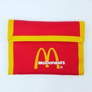 Vintage 80/'s Nylon McDonald/'s Red Wallet NEW